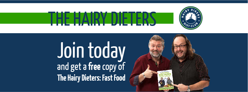 Joiners on the 3, 6 or 12 month plan will get a free copy of Hairy Dieters Fast Food. RRP £14.99