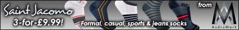 Saint Jacomo Socks from AsdruMark - 3 Pairs for £9.99 Offer