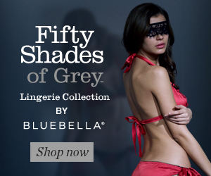 Official Fifty Shades of Grey Lingerie Collection by Bluebella