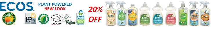 20% off Earth Friendly Products ECOS