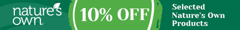 10% off the entire Natures Own range