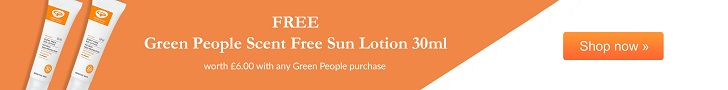 FREE scent free sun lotion with any Green People purchase