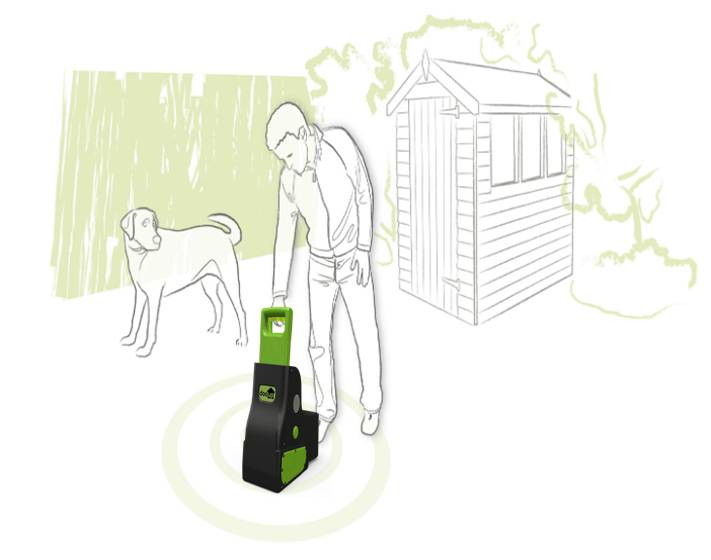 The dooup Complete Pet Waste Clearer for the garden
