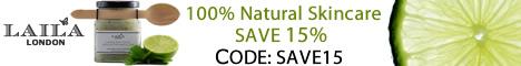 Laila London 100% Natural Skincare SAVE 15%