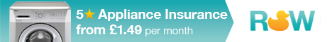 5 Star Home Appliance Insurance from £1.49 per month - Washing Machine, Cooker, Fridge