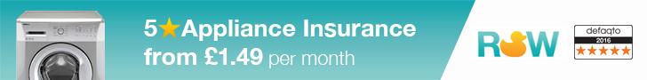 5 Star Defaqto Kitchen Appliances Insurance from £1.49 per month - Tumble Dryer, Oven