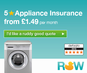 Home and Kitchen Appliance insurance from £1.49 per month - 5 Star Defaqto Rated