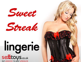 Gorgeous lingerie and corsets from our Sweet Streak range