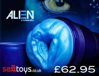 Indulge in the out of this world pleasure of the Alien Fleshlight!