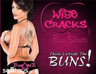 Sexy cheeky and fun Wise Cracks boyshorts to say how you feel!